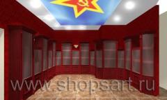 Визуализация ювелирного магазина Октябрь отдел часов