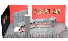 Визуализация 2 ювелирного магазина город Усинск