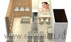 Визуализация 2 ювелирного магазина Benardi Москва
