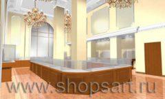 Дизайн интерьера ювелирного магазина торговое оборудование КОРИЧНЕВАЯ КЛАССИКА Дизайн 1