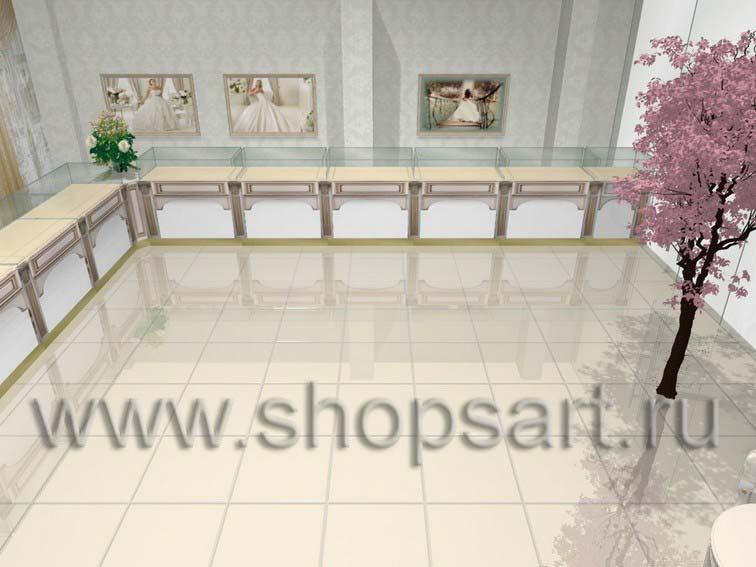 Дизайн интерьера 2 ювелирного магазина Обручальное кольцо коллекция ЭЛИТ ГОЛД