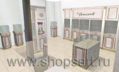 Дизайн интерьера ювелирного магазина Benardi коллекция ЭЛИТ ГОЛД Дизайн 1