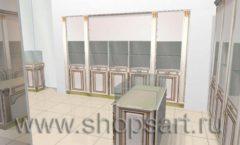 Дизайн интерьера ювелирного магазина Benardi коллекция ЭЛИТ ГОЛД Дизайн 2