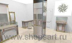 Дизайн интерьера ювелирного магазина Benardi коллекция ЭЛИТ ГОЛД Дизайн 3