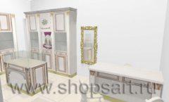 Дизайн интерьера ювелирного магазина Benardi коллекция ЭЛИТ ГОЛД Дизайн 4
