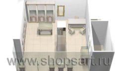 Дизайн интерьера ювелирного магазина Benardi коллекция ЭЛИТ ГОЛД Дизайн 6