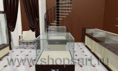 Дизайн интерьера ювелирного магазина Золотая Лилия коллекция КОФЕ С МОЛОКОМ Дизайн 03