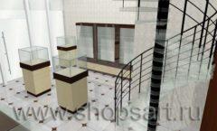 Дизайн интерьера ювелирного магазина Золотая Лилия коллекция КОФЕ С МОЛОКОМ Дизайн 06