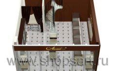 Дизайн интерьера ювелирного магазина Золотая Лилия коллекция КОФЕ С МОЛОКОМ Дизайн 07