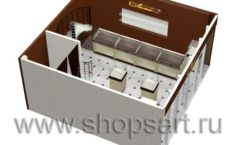 Дизайн интерьера ювелирного магазина Золотая Лилия коллекция КОФЕ С МОЛОКОМ Дизайн 08