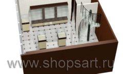 Дизайн интерьера ювелирного магазина Золотая Лилия коллекция КОФЕ С МОЛОКОМ Дизайн 09