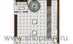 Дизайн интерьера ювелирного магазина Золотая Лилия коллекция КОФЕ С МОЛОКОМ Дизайн 10