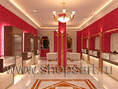 Дизайн интерьера ювелирного магазина Золото Якутии VIP зал КОФЕ С МОЛОКОМ