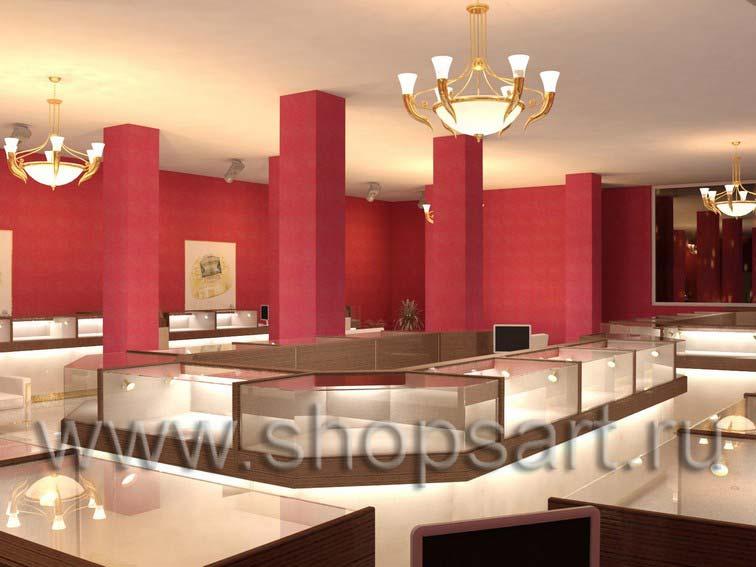 Дизайн интерьера ювелирного магазина Золото Якутии коллекция КОФЕ С МОЛОКОМ