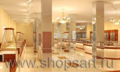 Дизайн интерьера 2 ювелирного магазина Золото Якутии коллекция КОФЕ С МОЛОКОМ Дизайн 01