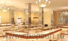 Дизайн интерьера 2 ювелирного магазина Золото Якутии коллекция КОФЕ С МОЛОКОМ Дизайн 02
