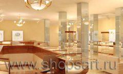 Дизайн интерьера 2 ювелирного магазина Золото Якутии коллекция КОФЕ С МОЛОКОМ Дизайн 03