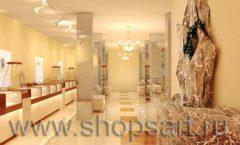 Дизайн интерьера 2 ювелирного магазина Золото Якутии коллекция КОФЕ С МОЛОКОМ Дизайн 04