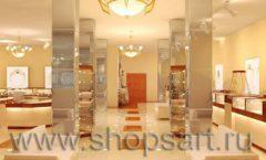 Дизайн интерьера 2 ювелирного магазина Золото Якутии коллекция КОФЕ С МОЛОКОМ Дизайн 05