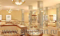Дизайн интерьера 2 ювелирного магазина Золото Якутии коллекция КОФЕ С МОЛОКОМ Дизайн 06