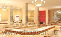 Дизайн интерьера 2 ювелирного магазина Золото Якутии коллекция КОФЕ С МОЛОКОМ Дизайн 08