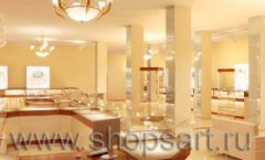 Дизайн интерьера 2 ювелирного магазина Золото Якутии коллекция КОФЕ С МОЛОКОМ Дизайн 09