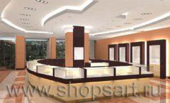 Дизайн интерьера ювелирного магазина коллекция КОФЕ С МОЛОКОМ Дизайн 1