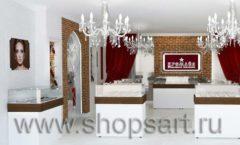 Дизайн интерьера ювелирного магазина Кремлев Серпухов КРЕМЛЕВСКОЕ ЗОЛОТО Дизайн 2