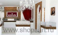Дизайн интерьера ювелирного магазина Кремлев Серпухов КРЕМЛЕВСКОЕ ЗОЛОТО Дизайн 3