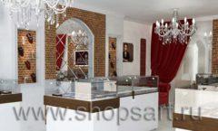 Дизайн интерьера ювелирного магазина Кремлев Серпухов КРЕМЛЕВСКОЕ ЗОЛОТО Дизайн 5