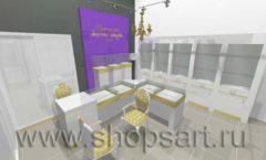 Дизайн интерьера ювелирного магазина Золотой имидж ТРЦ Авиапарк СОВРЕМЕННЫЙ СТИЛЬ Дизайн 2