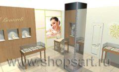 Дизайн интерьера ювелирного магазина Benardi коллекция СОВРЕМЕННЫЙ СТИЛЬ Дизайн 1