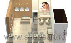 Дизайн интерьера ювелирного магазина Benardi коллекция СОВРЕМЕННЫЙ СТИЛЬ Дизайн 4