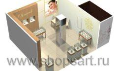 Дизайн интерьера ювелирного магазина Benardi коллекция СОВРЕМЕННЫЙ СТИЛЬ Дизайн 5