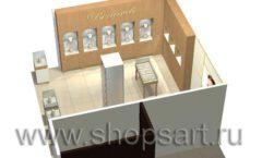 Дизайн интерьера ювелирного магазина Benardi коллекция СОВРЕМЕННЫЙ СТИЛЬ Дизайн 6