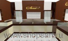 Дизайн интерьера ювелирного магазина Золотая Лилия коллекция ЭТАЛОН Дизайн 1