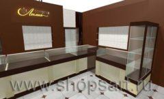 Дизайн интерьера ювелирного магазина Золотая Лилия коллекция ЭТАЛОН Дизайн 2