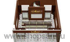 Дизайн интерьера ювелирного магазина Золотая Лилия коллекция ЭТАЛОН Дизайн 5