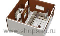 Дизайн интерьера ювелирного магазина Золотая Лилия коллекция ЭТАЛОН Дизайн 6