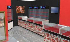 Дизайн интерьера ювелирного магазина Сапфир коллекция КОРАЛЛ Дизайн 01