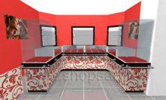 Дизайн интерьера ювелирного магазина Сапфир коллекция КОРАЛЛ Дизайн 05
