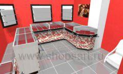 Дизайн интерьера ювелирного магазина Сапфир коллекция КОРАЛЛ Дизайн 06