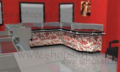 Дизайн интерьера ювелирного магазина Сапфир коллекция КОРАЛЛ Дизайн 07