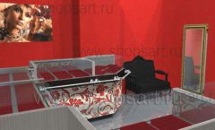 Дизайн интерьера ювелирного магазина Сапфир коллекция КОРАЛЛ Дизайн 08