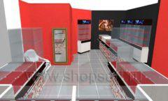 Дизайн интерьера ювелирного магазина Сапфир коллекция КОРАЛЛ Дизайн 10