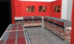 Дизайн интерьера ювелирного магазина Сапфир коллекция КОРАЛЛ Дизайн 11