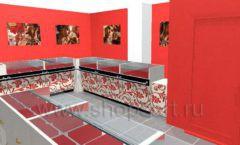 Дизайн интерьера ювелирного магазина Сапфир коллекция КОРАЛЛ Дизайн 12