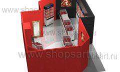 Дизайн интерьера ювелирного магазина Сапфир коллекция КОРАЛЛ Дизайн 15