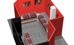 Дизайн интерьера ювелирного магазина Сапфир коллекция КОРАЛЛ Дизайн 17