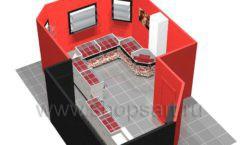 Дизайн интерьера ювелирного магазина Сапфир коллекция КОРАЛЛ Дизайн 18